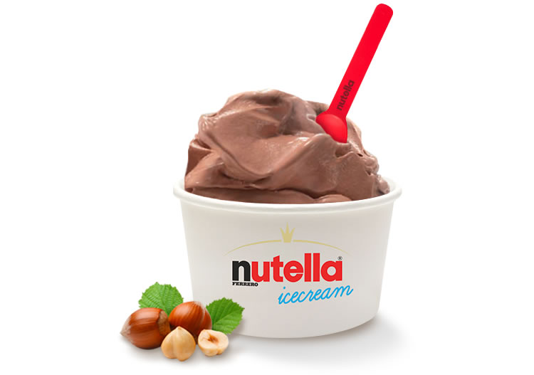gelato alla Nutella dressing&toppings