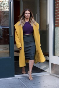 109031, NEW YORK, NEW YORK - Wednesday November 20, 2013. Kim Kardashian wears a bright coat and a purple top as she heads out into New York City. Photograph: Lenny Abbot, © PacificCoastNews.com **FEE MUST BE AGREED PRIOR TO USAGE** **E-TABLET/IPAD & MOBILE PHONE APP PUBLISHING REQUIRES ADDITIONAL FEES** LOS ANGELES OFFICE: 1 310 822 0419 LONDON OFFICE: +44 208 090 4079