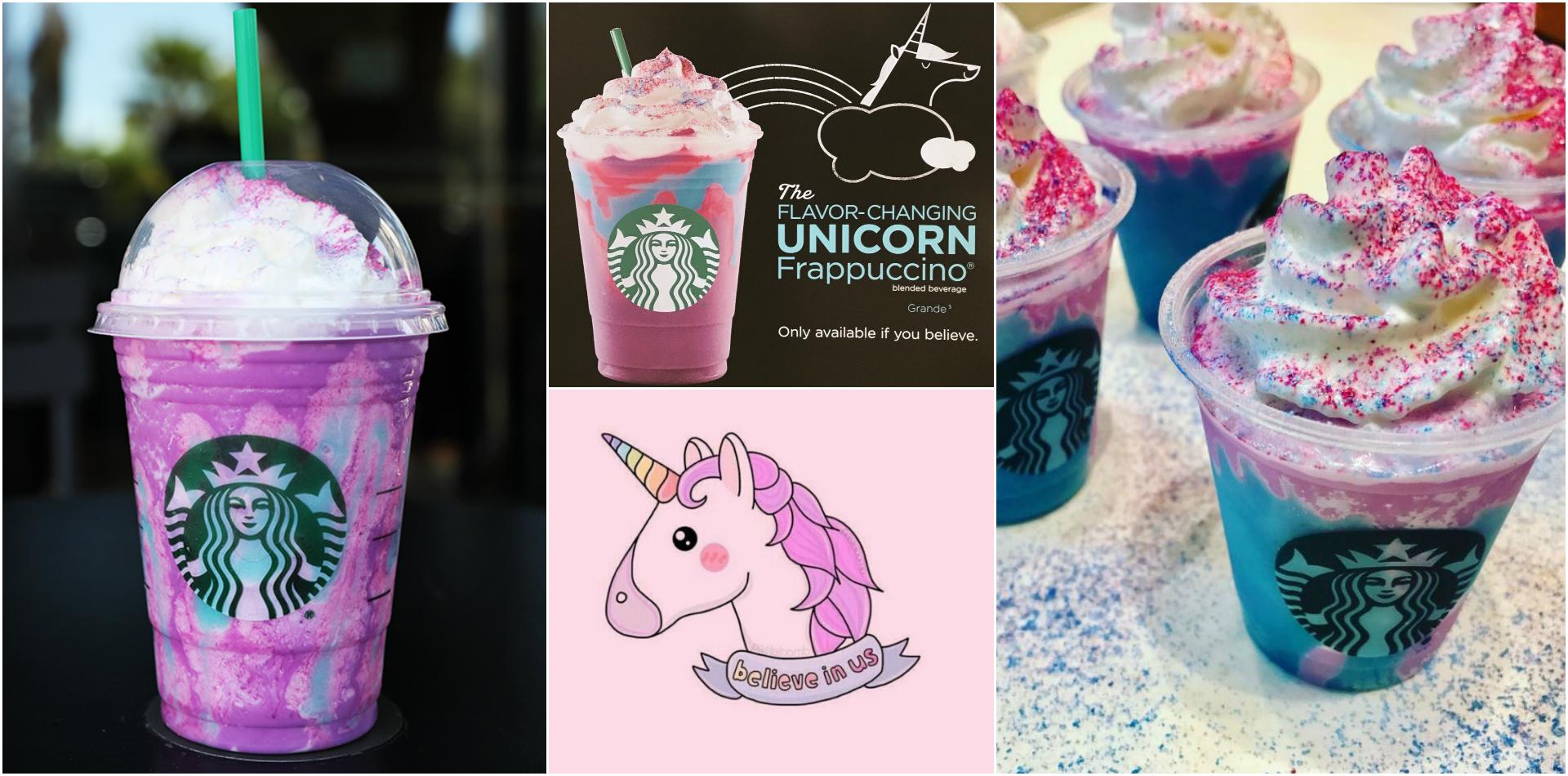 starbucks frappuccino unicorno