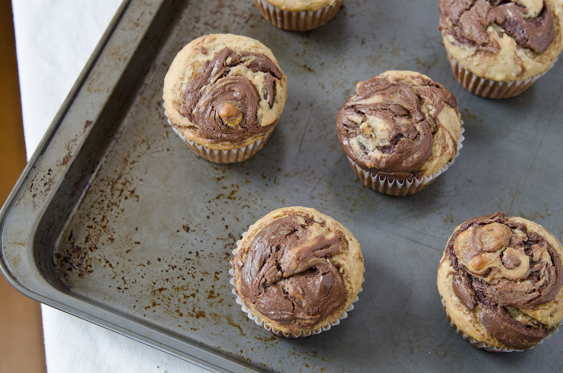 muffin banane e nutella
