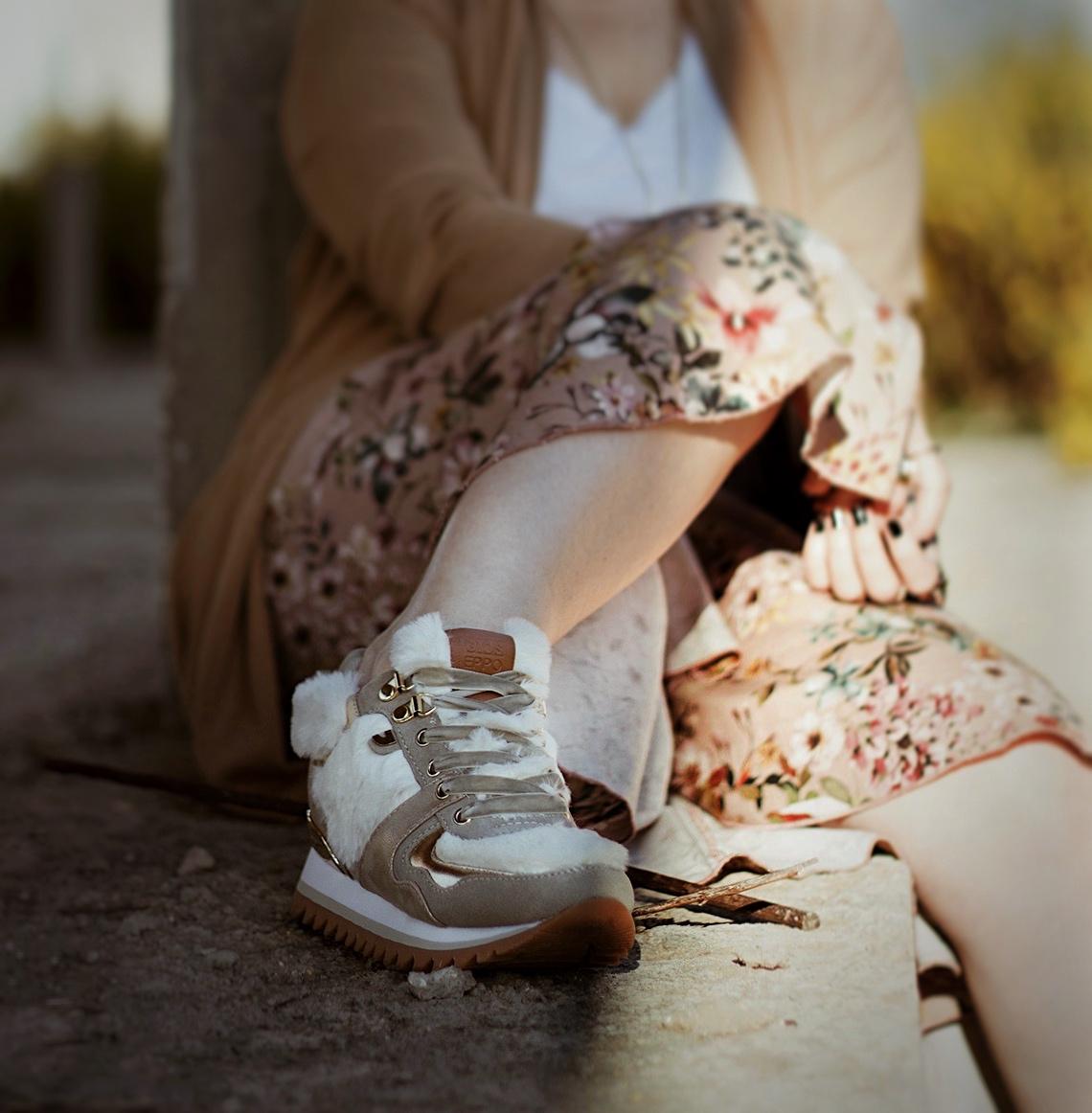 scarpe con la pelliccia