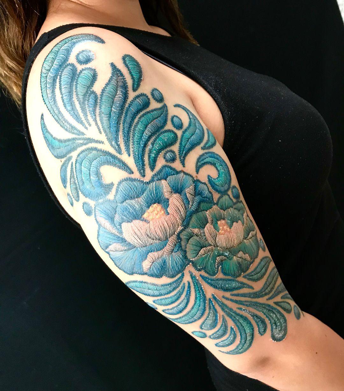 tatuaggi ricamati