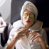 beauty routine in aereo