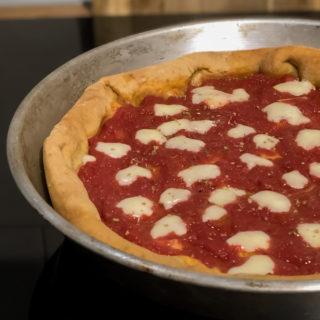 Pizza senza lievito con bicarbonato