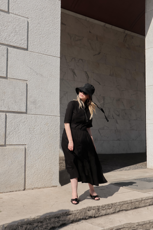 vestito a balze tiered dress