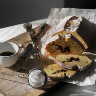 Plumcake con cuore di crema Pan di Stelle
